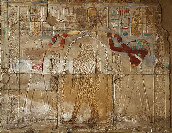 Photo of a wall in Luxor, Egypt