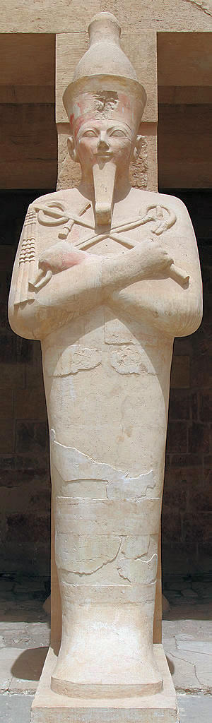 Statue at the Hatshepsut Temple in the Valley of the Kings in Egypt